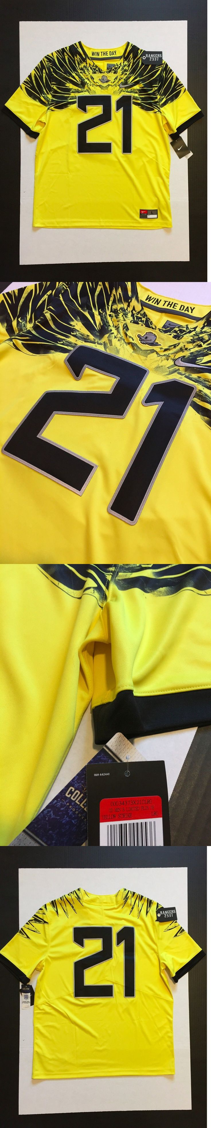 College-NCAA 24541: Nike Oregon Ducks Limited Plus Game Jersey #21 Football Yellow Strike Mens Sz L -> BUY IT NOW ONLY: $67.5 on eBay!