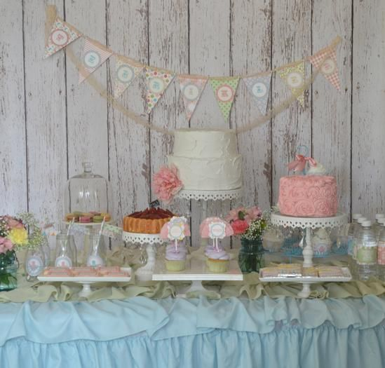 So cute!!    Hostess with the Mostess® - Shabby Chic Garden Tea Baby Shower Party