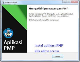 instal aplikasi PMP