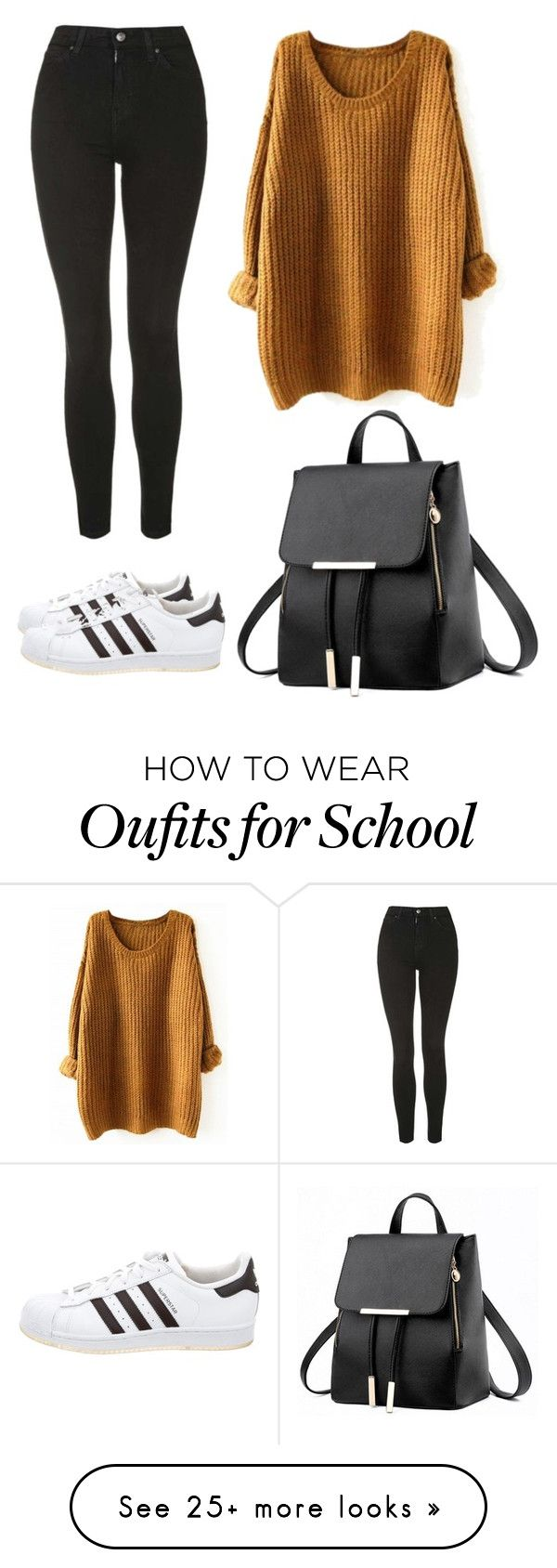 """Back to school for fall"" by dagimstang on Polyvore featuring Topshop and adidas"