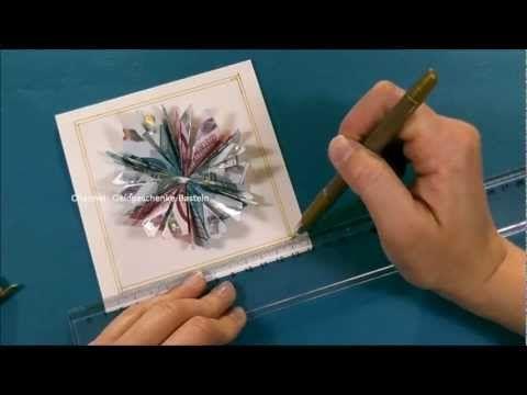Geld falten ❁ Geldgeschenk basteln ❁ Deko Ideen mit Flora-Shop - YouTube