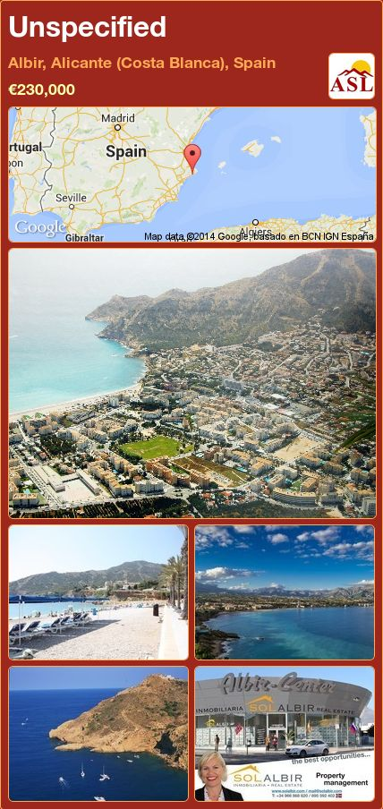 Unspecified in Albir, Alicante (Costa Blanca), Spain ►€230,000 #PropertyForSaleInSpain