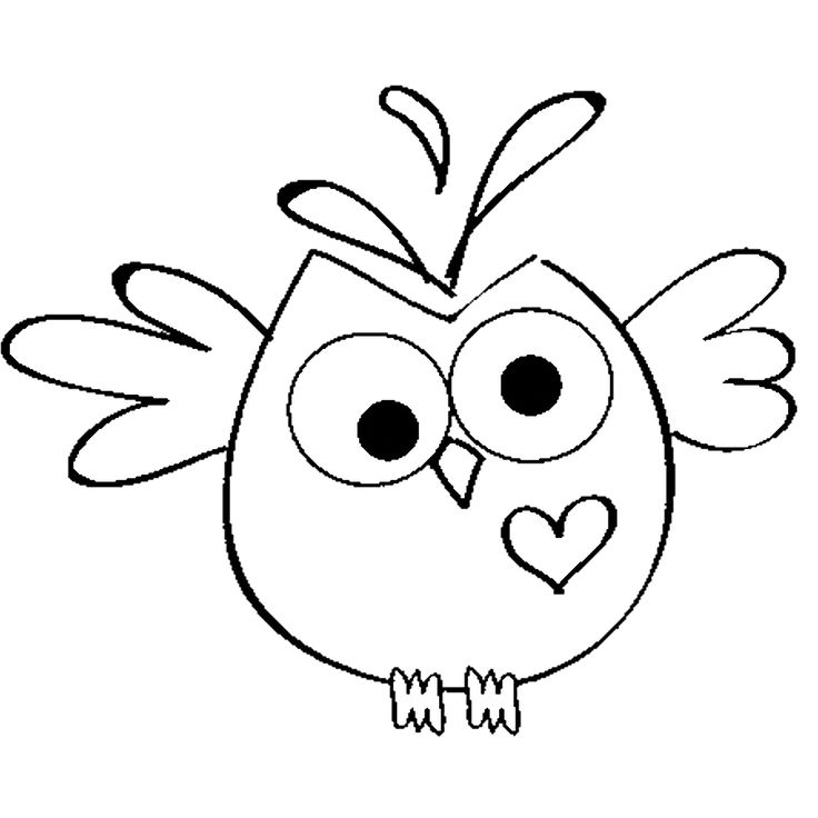 Heart Owl -digi stamp!