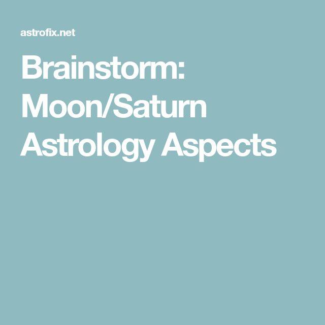 Brainstorm: Moon/Saturn Astrology Aspects