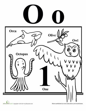 Worksheets: Words That Start With O