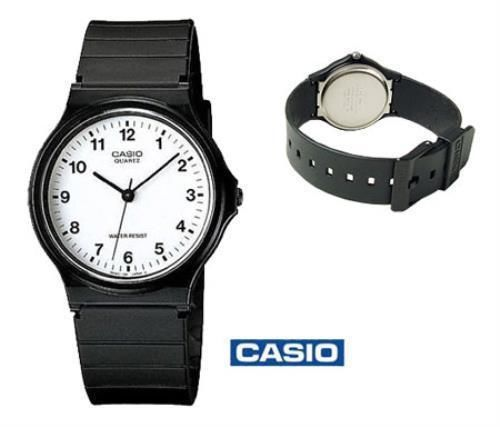 CASIO - Analogue Watch (White face / Black marks) (MQ-24-7BLL) BNIB £15.44