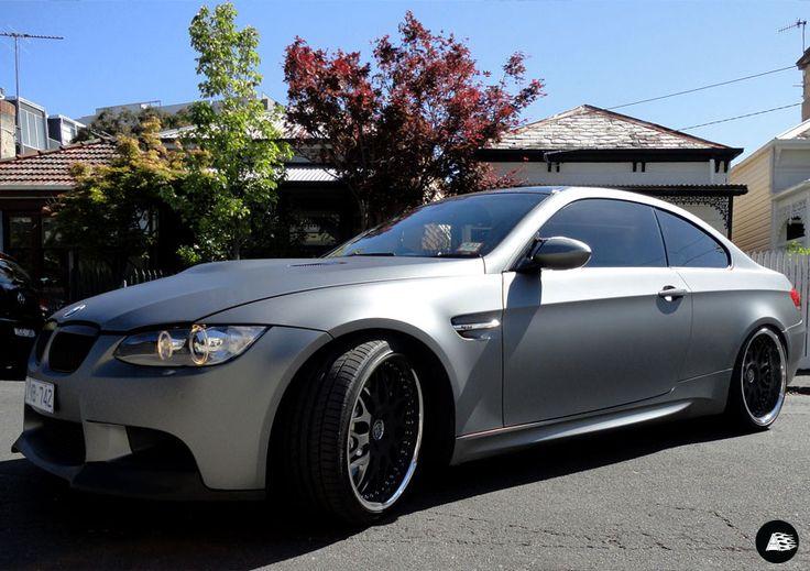 Grey Matte Metallic Vehicle Wrap | #Avery #BMW #customfinishes #fullvehiclewrap