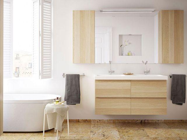 Salle de bains pin ikea salle de bain pinterest d co for Deco salle de bain ikea