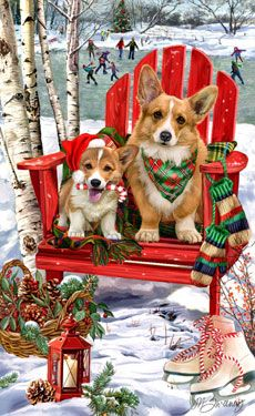 Pembroke Corgi Let it Snow - by Margaret Sweeney