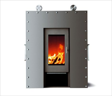 Modern Wood Burning Stove / Fireplace Design Ideas By Skantherm   Can Be  Closed To Hide The Fireplace