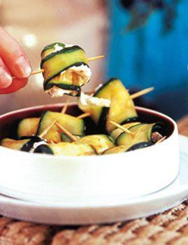 Zucchini-Lachs-Röllchen - Rezepte - [LIVING AT HOME]