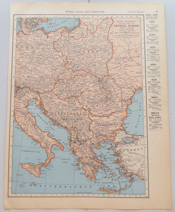50 best vintage maps images on pinterest classroom decor vintage map of central europe vintage map of norway and sweden on reverse side gumiabroncs Choice Image