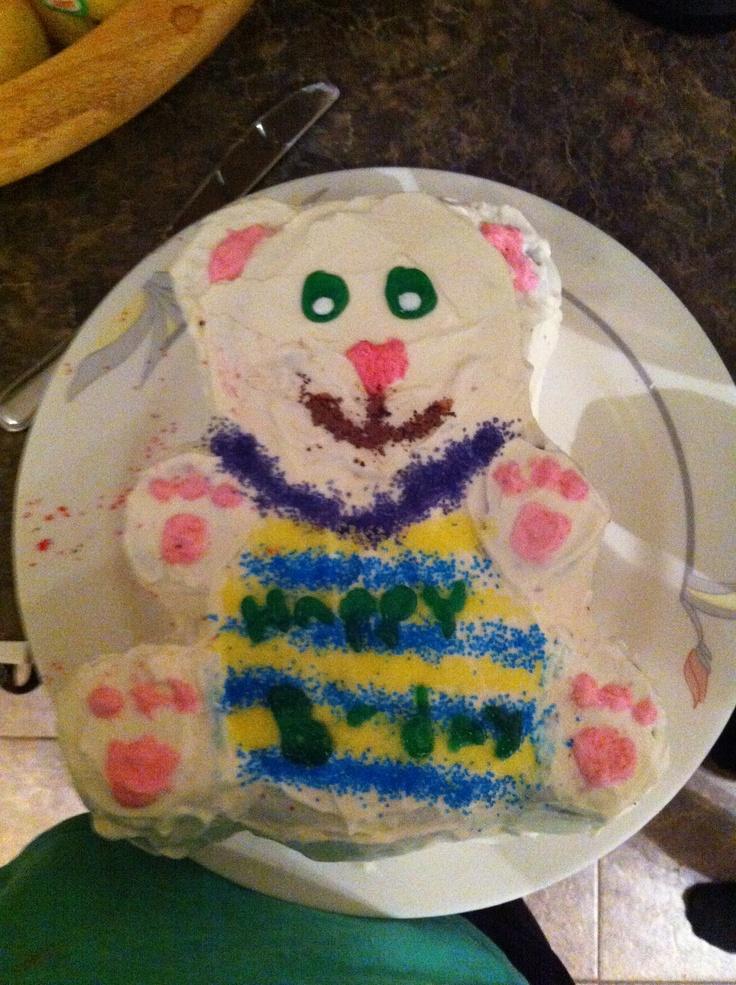 Teddy cake...