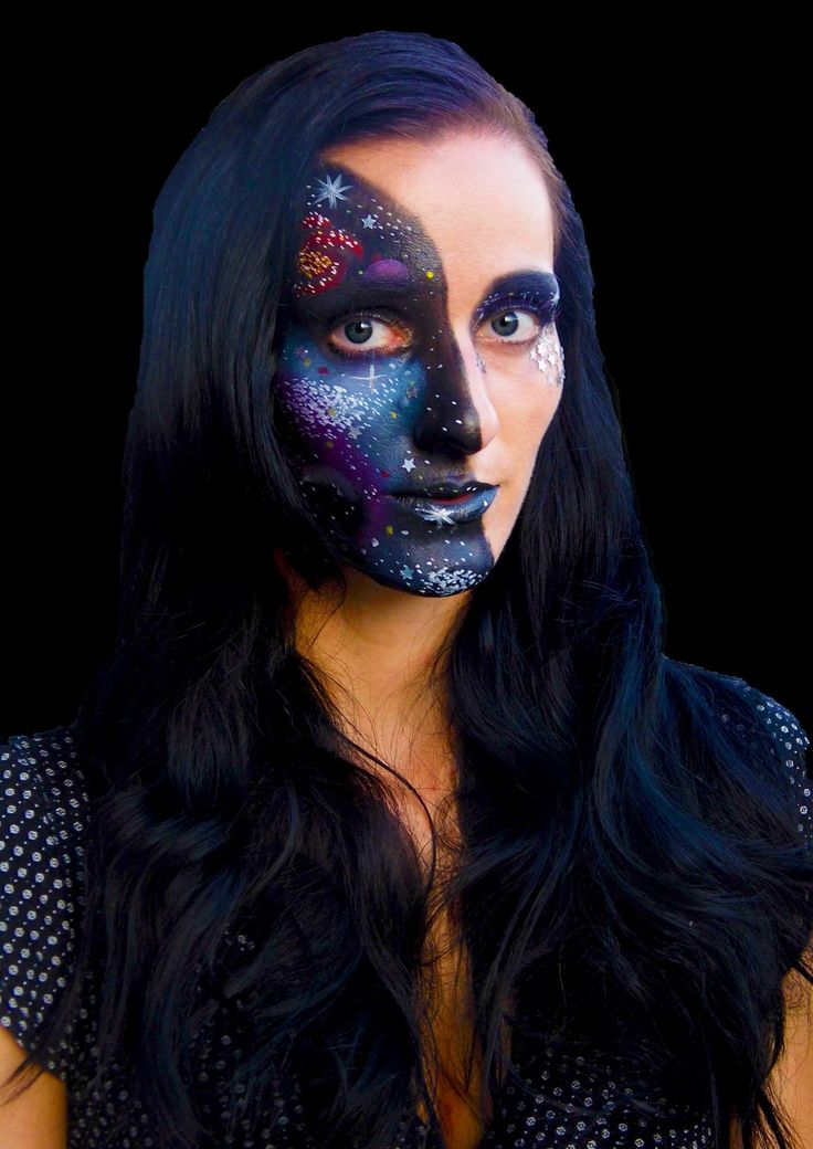 Galaxy face painting