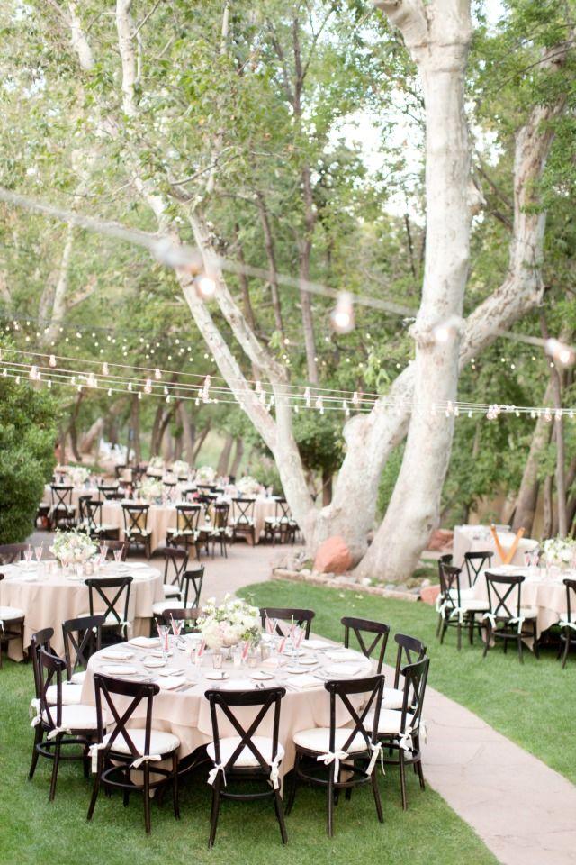 outdoor wedding reception - forest in Arizona