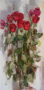 "Saatchi Art Artist Nelina Trubach-Moshnikova; Painting, ""Roses"" #art"