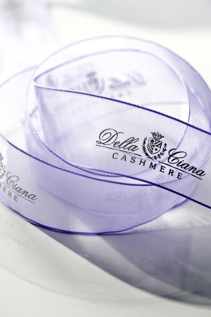 """Nastro di Organza stampa serigrafica a rilievo (Organza ribbon Serigraph printing in relief).1 """"Della Ciana Cashmere"""""""