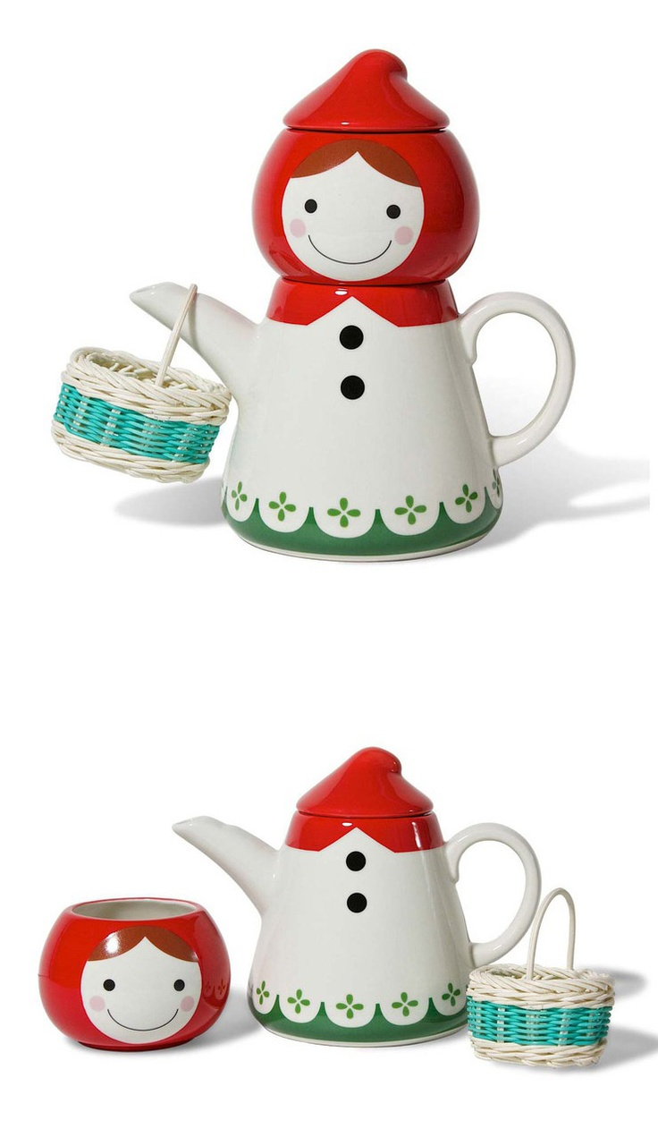 Red Riding Hood Tea Set - impossibly whimsical...