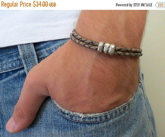 ON SALE 15% OFF Jim Brown Men's Bracelet  Men Beaded by Galismens