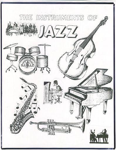 jazz instrument... Jazz Instruments Drawing
