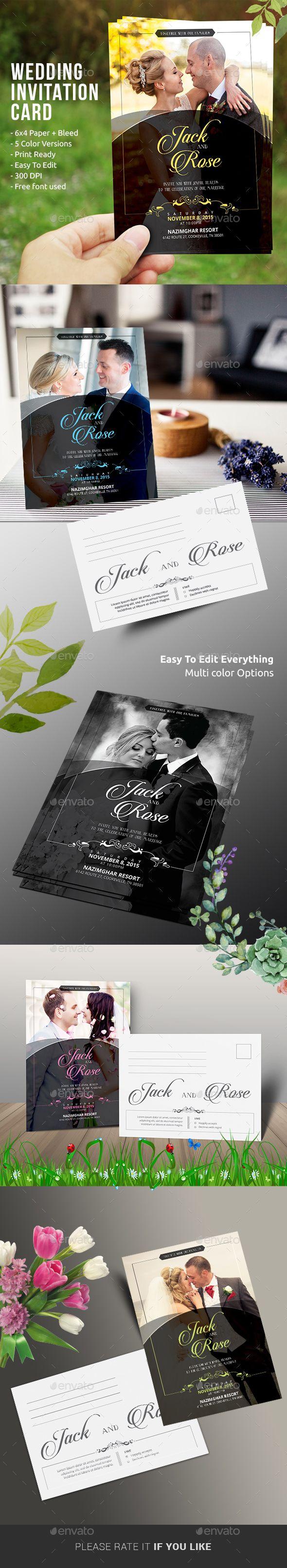 Wedding Invitation Design - Weddings Cards & Invitation Template Instant Download http://graphicriver.net/item/wedding-invitation/13429653?ref=themedevisers