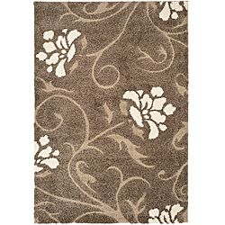 Ultimate Smoke/Beige Floral Shag Rug (8' x 10') | Overstock.com Shopping - Great Deals on Safavieh 7x9 - 10x14 Rugs ~ 229.00