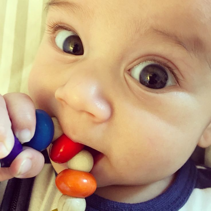 Handmade wooden teething ring. Non toxic and made from sustainable wood in Czech Republic.