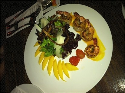 Prawn & Mango Salad @ Muddy Murphy's Irish Pub Singapore