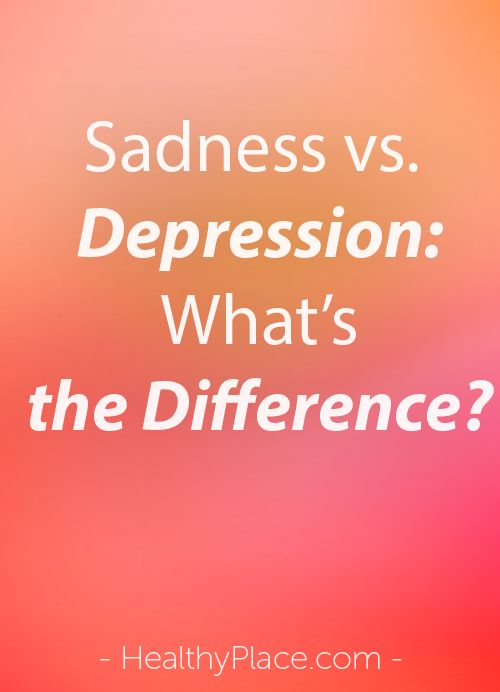 What is the difference between sadness and depression? And how can you figure out whether you're experiencing sadness or depression. Find out.   www.HealthyPlace.com