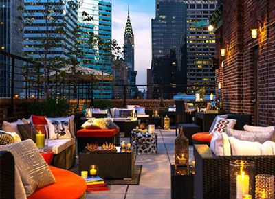 Rooftop Bars to check out:  1.  Haven Rooftop at the Sanctuary Hotel  132 W. 47th St (and 7th ave)    2. Gallow Green at the McKittrick Hotel 530 W. 27th St (b. 10th and 11th ave)    3. Renaissance New York Hotel 57 - 130 East 57th St. at Lexington