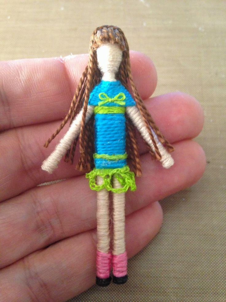 Sugarplum Village: Tiny Treasures: Best Friend Toothpick Dolls Free Tutorial by Deanne Crim