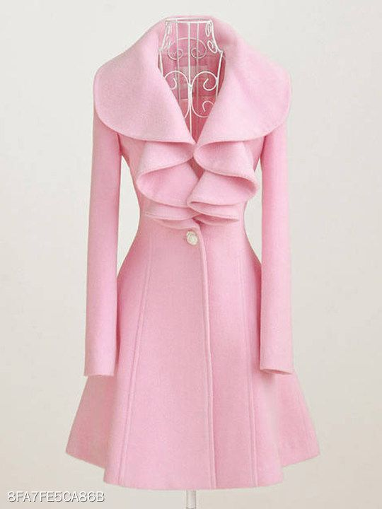 37f53bd0da Asymmetric Neck Decorative Button Plain Long Sleeve Coats - berrylook.com