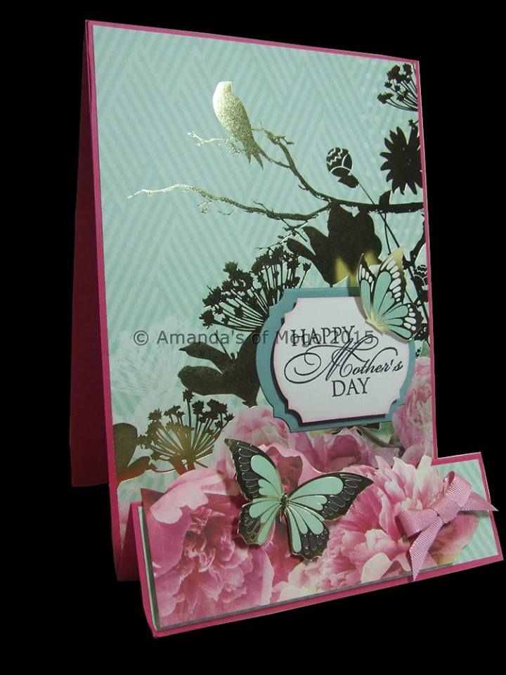 Gold foil mother's day card #amandasofmogo #mogo #handmade #cardmaking #kaisercraft #goldfoil #bird #butterfly