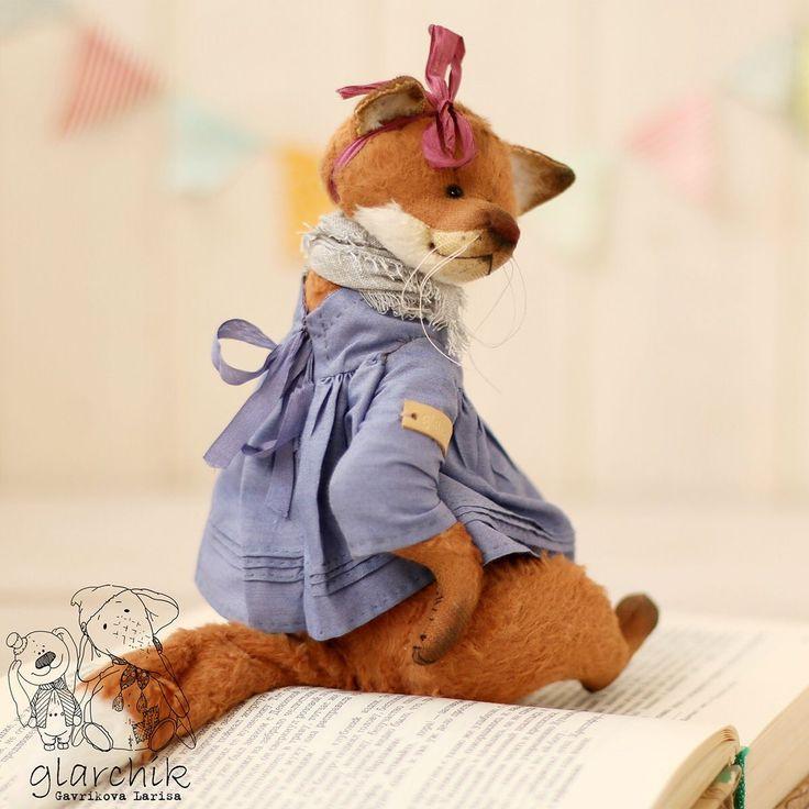 Купить Лисичка Ластиша - авторская игрушка, коллекционная игрушка, лиса, лиса тедди, лисичка, вискоза
