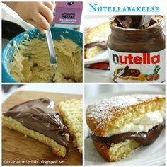 Madame Edith - Enkla recept och Klassisk inredning: Nutellabakelse - Sockerkaka med nutella