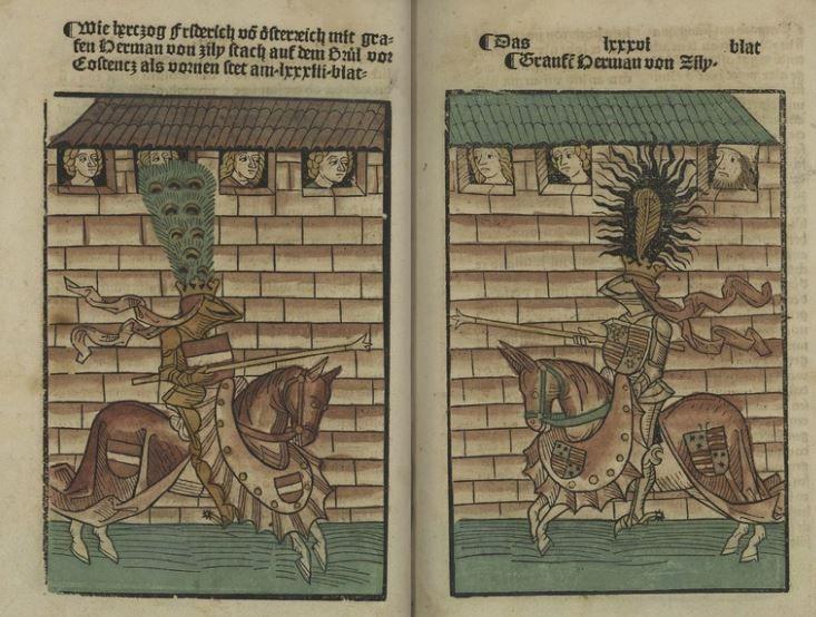 Chronik des Konstanzer Konzils Ulrich von Richental, Augsbourg,  1483 XV.B233  Folio 104-105