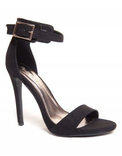 Chaussures femme Ideal: Sandales à talons noirs