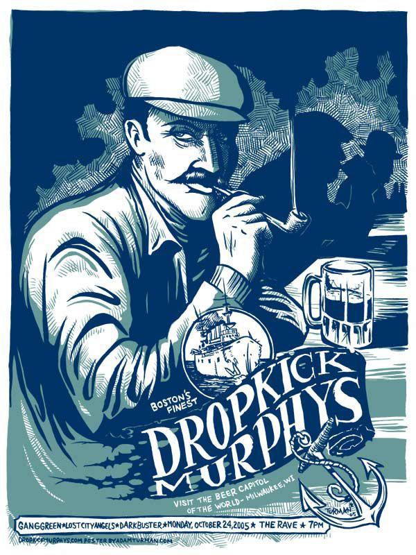 """Dropkick Murphys, bandet som ofte blir omtalt som """"verdens beste liveband"""" er klare for Slottsfjell! Les mer om gjengen fra Boston her www.slottsfjell.no"""