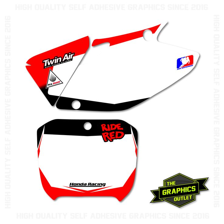 HONDA CRF450 2002-03 - RIDE RED FACTORY STYLE REPLICA - MOTOCROSS BACKGROUNDS - RED & BLACK VERSION