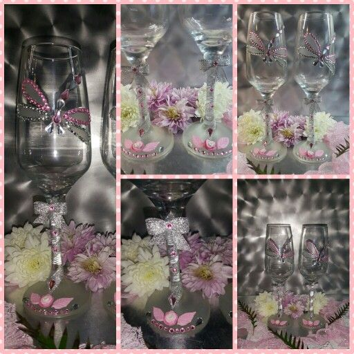 Pink dragonfly glasses