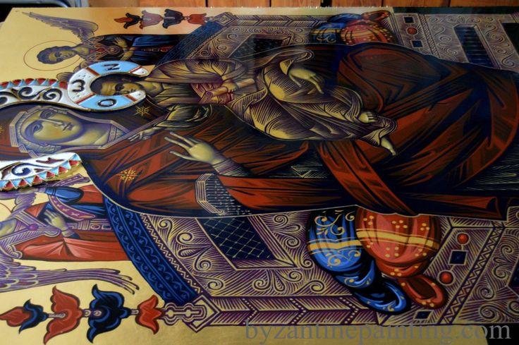Icon of Panagia Pantanassa of Mount Athos