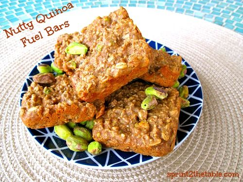 Nutty Quinoa Fuel Bars - use GF oats to make gluten-free, (easy) vegan modification, low sugar