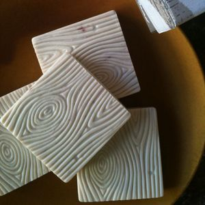 faux bois soap: use the paint tool found in the martha supplies at home depot
