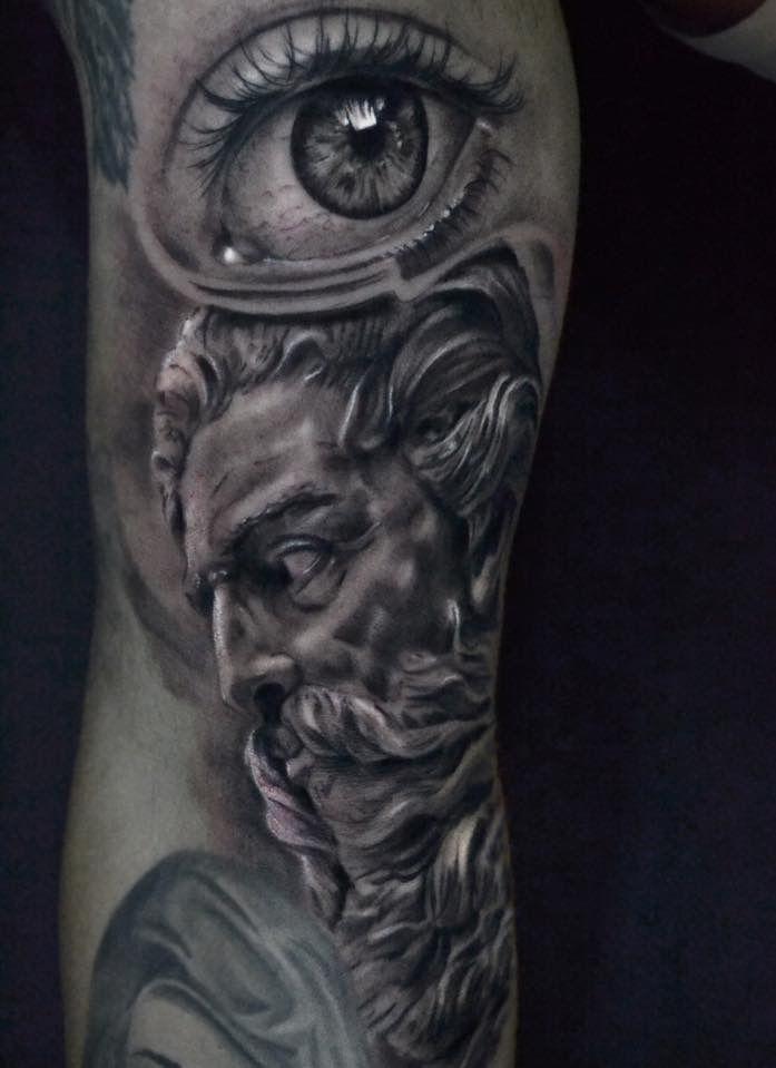 Realistic Eye tattoo Tatuagem realista olho Netuno poseidon  Artist @pedromullertattoo