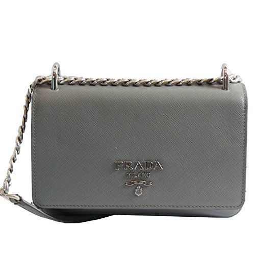f887b14160 Prada Soft Cacao Brown Calf Leather with Silver Chain Designer ...