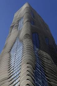 Jeanne Gang: Hotel and Residential Tower, Chicago, 2009.: Gang Aqua, Aqua Blue, Art Architecture, Chicago Skyscrapers, Design Architecture, Jeanne Time, Chicago Architecture, Aqua Skyscrapers, Aqua Towers