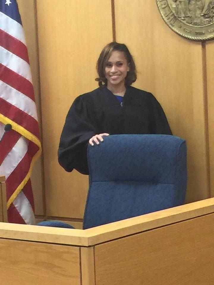 Congratulations to Soror April Smith, who was sworn in as District Court Judge (12th District) in Cumberland County! (c/o Zeta Phi Beta Sorority, Incorporated - State of North Carolina)