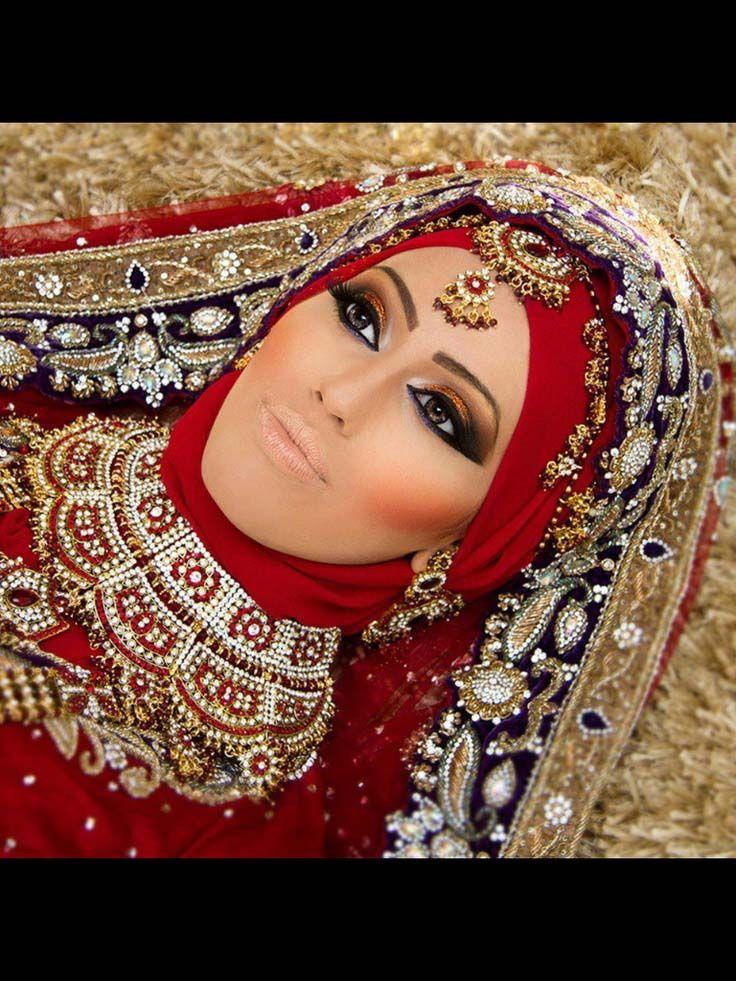 asian wedding hijab styles
