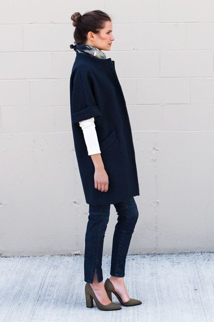 Topper Coat - Zaffiro Wool Twill | Emerson Fry