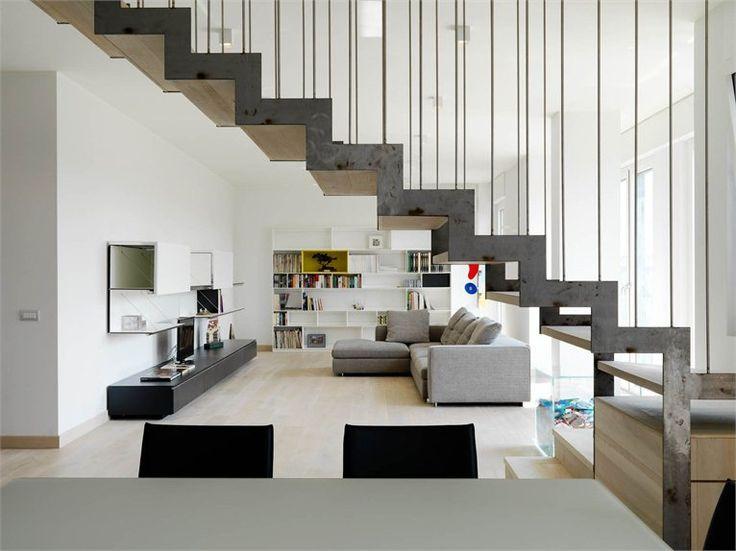 Scala in ferro e LegnoAppartamento Duplex, Inspiration Ideas, Arredo Appartamento, Home Stairs, Vincenzo Ferrara, Staircas, Projects Gallery, Appartamenti Posti, With The